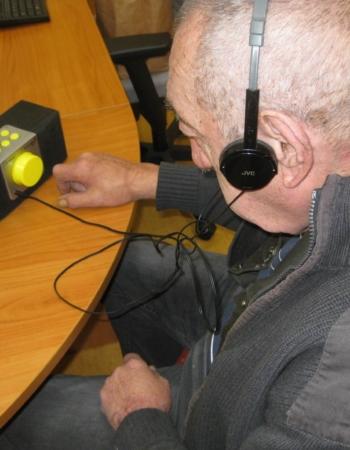 Specializované kompenzační pomůcky pro zrakově postižené klienty Palaty