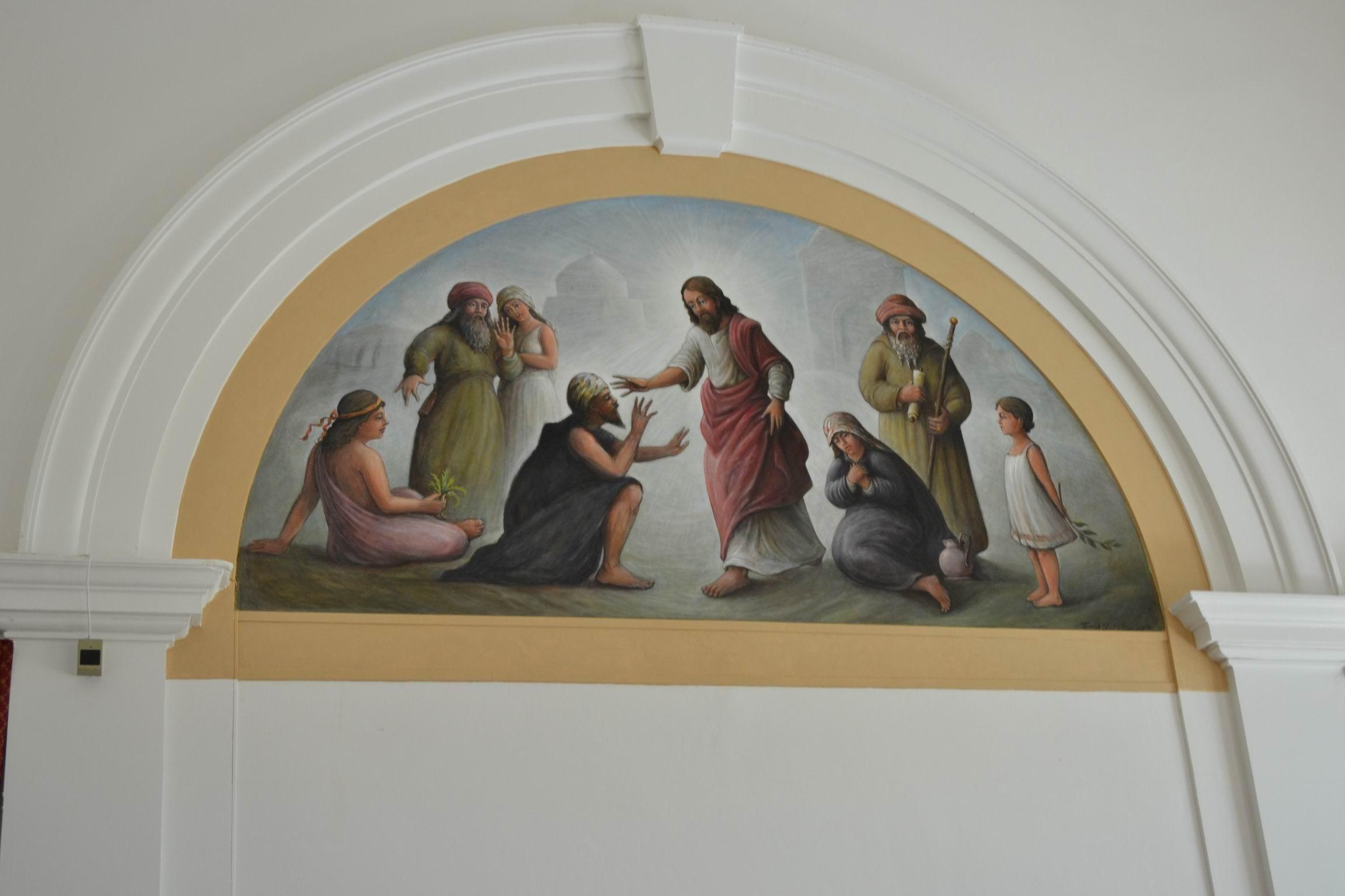 """Posvěcení obrazu """"Kristus uzdravující slepce"""""""